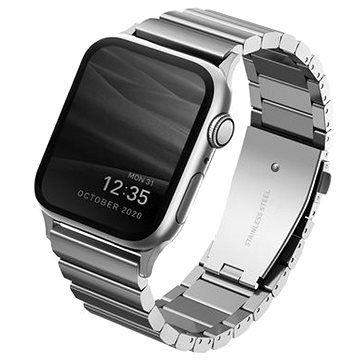 Uniq Strova Apple Watch článkový ocelový řemínek 44/42MM