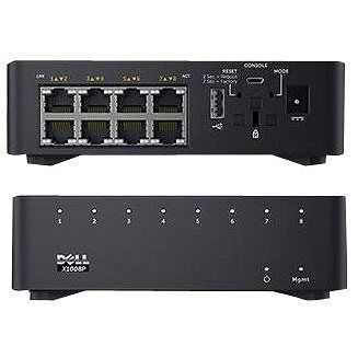 Dell Networking X1008 Smart Web Managed Switch 8x 1GbE ports AC or POE powered/X1008X1008P Limited L