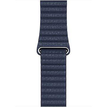 Apple Watch 44mm hlubinně modrý kožený řemínek