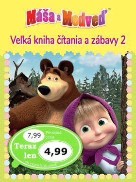 Máša a medveď 2 - Veľká kniha čítania a zábavy cena od 189 Kč