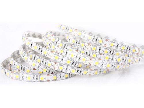 ECOLIGHT LED pásek - 5050 - 12V - 5m - 72W - 300 diod - IP63 - neutrální bílá