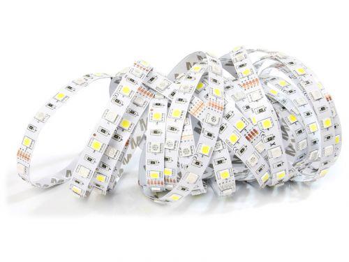 ECOLIGHT LED pásek - RGBW - 12V - 5m - 72W - 300 diod - IP20 - RGB+studená bílá