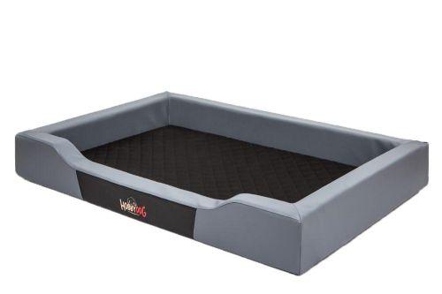 HobbyDog Pelíšek pro psa Delux - šedý Velikost: L - 75x50 cm (63x38 cm)