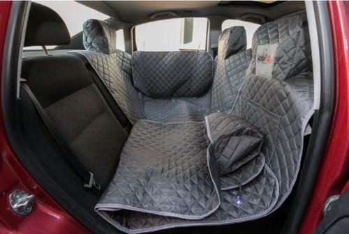HobbyDog Ochranný potah na sedačky do auta - šedý Velikost: 140 / 160 cm