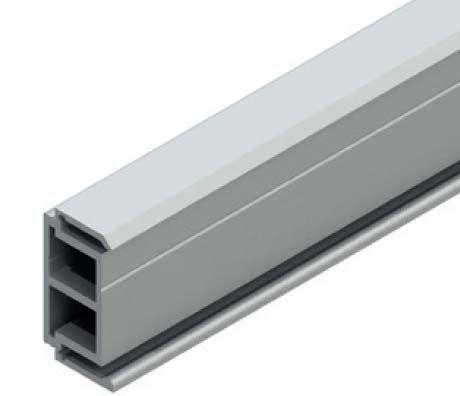 Solido Distanční profil 1 m, hliník nerez efekt