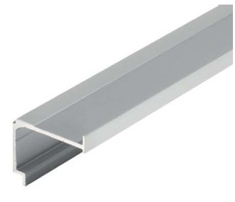 Solido Montážní profil pro kombinaci s krycím profilem 1 m, hliník nerez efekt
