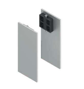 Solido Krytky pro montážní a krycí klipový profil, hliník nerez efekt, použití na skleněné dveře
