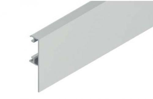 Solido Krycí klipový profil pro dřevěné dveře - 1 m, hliník nerez efekt