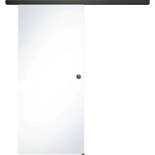 Donau Celoskleněné posuvné dveře sada čiré sklo, posuvné kování černá, šířka dveří 820 mm