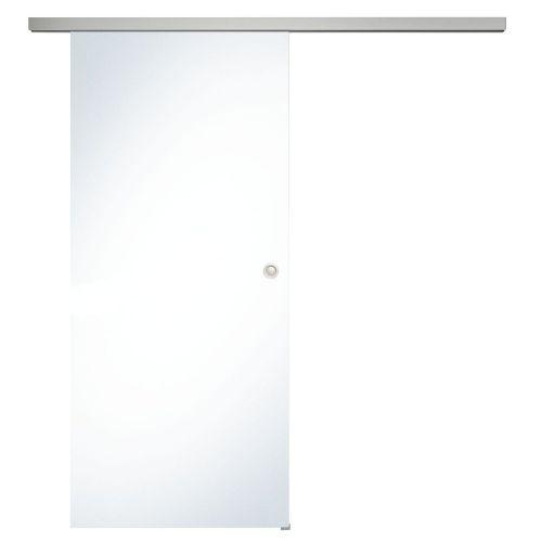 Donau Celoskleněné posuvné dveře sada čiré sklo, posuvné kování stříbrná, šířka dveří 820 mm