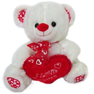 Vizopol Medvídek s mašlí a srdcem - 35 cm