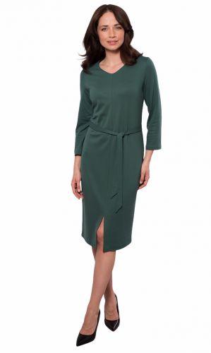 Wadima Dámské šaty s 3/4 rukávem 105133 458 zelená M-4