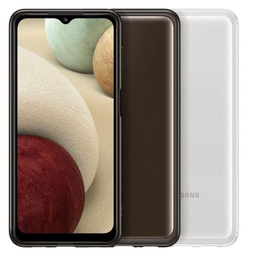 Samsung Poloprůhledný zadní kryt A12 Black