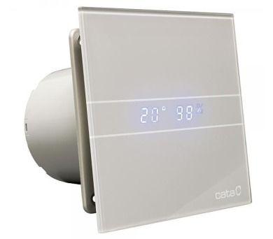 CATA e100 GSTH sklo hygro časovač stříbrný