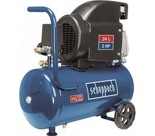 Olejový kompresor Scheppach HC 26, 8 bar se vzdušníkem 24l