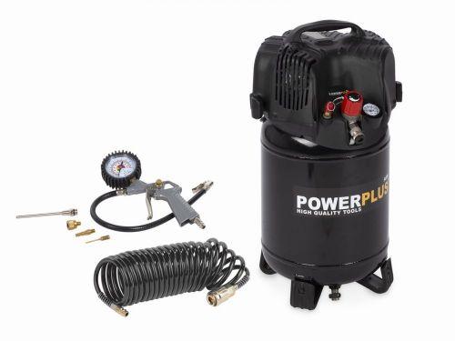 Powerplus Kompresor 1100W 24L plus 6 ks přísl. bezolejový
