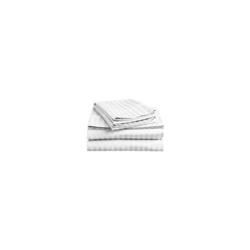 EMI Prostěradlo pevné damaškové bílé 140x220