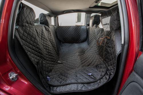Reedog ochranný potah do auta pro psa na zip + boky - černý Velikost: M