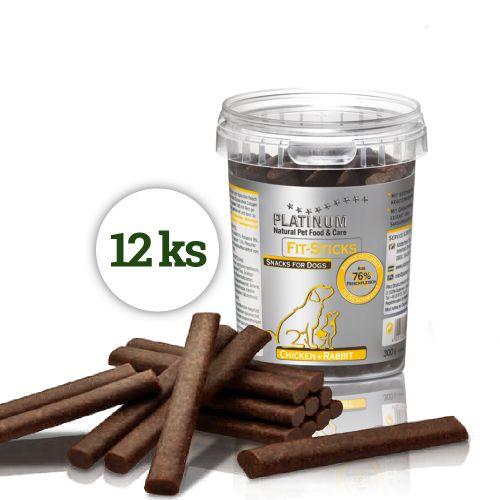 Platinum Natural Fit-Sticks Chicken & Rabbit - Kuře & Králík tyčinky 12ks