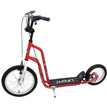 """Koloběžka Lifefit Rider 16""""/12"""" červeno/bílá"""