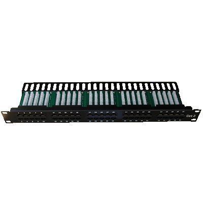"DATACOM Patch panel ISDN 50p.1U Integrovaný BLACK, 19"""