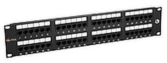 "19"" Patch panel Solarix 48 x RJ45 CAT5E UTP černý"