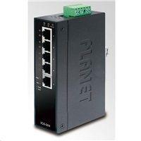 Planet switch IGS-501T, průmyslová verze 5x10/100/1000, DIN, IP30, -40 až 75°C, 12-48V, ESD+EFT
