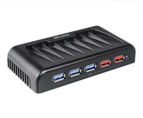 AKASA HUB USB Connect 7EX, 7x USB 3.0, 2 nabíjecí porty USB