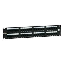 SOLARIX patch panel, CAT6, 48 x RJ45, UTP 350Mhz, černý, 2U