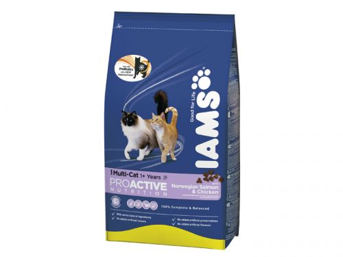 IAMS Multicat Chicken / Salmon 15 kg