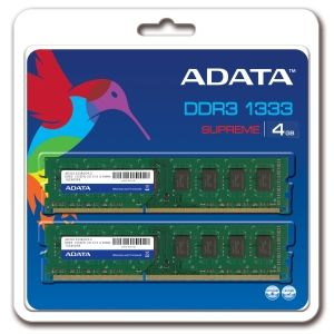A-DATA DDR3-1333 PC3-10666 2 x 2 GB (AD3U1333B2G9-2) cena od 0,00 €