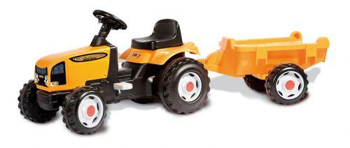 Smoby Šlapací traktor s vlekem oranžový