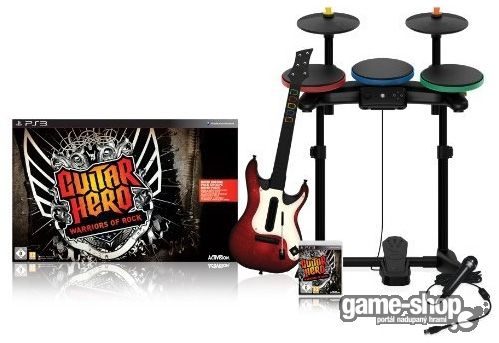 ACTIVISION PS3 - Guitar Hero: Warriors of Rock + Kytara + Mikrofon + Bubny (Super Bundle)