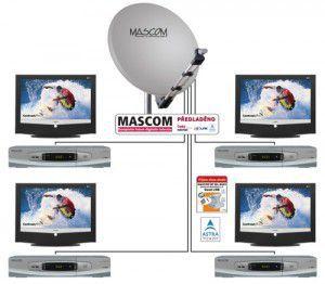 Mascom MC1101S/80MBL QUAD stříbrná