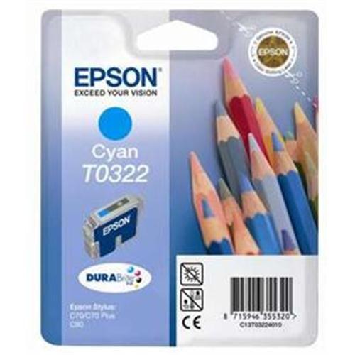 Atrament Epson T0322 cyan | Stylus C70/80 cena od 0,00 €