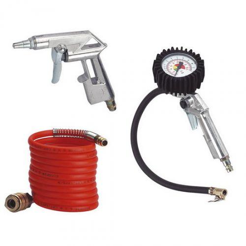 Pneu nářadí Einhell, 3-dílná sada Měření tlaku pneu,pistole,hadice spirálová