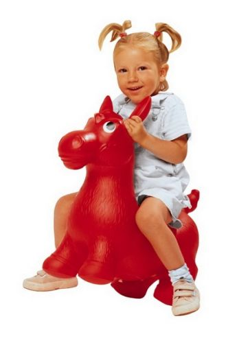 JOHN Hopsadlo Ponny červené