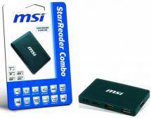 MSI Star Reader Combo 52v1, 3-portový HUB2.0 černá