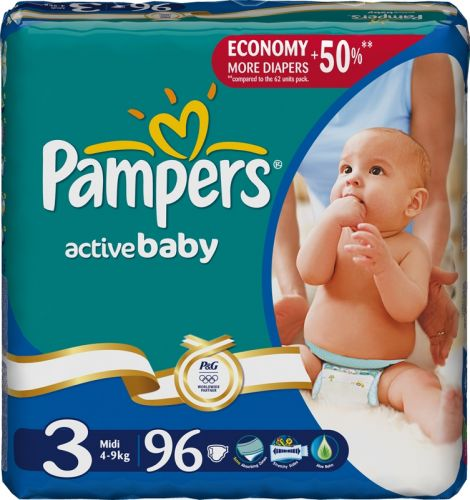 Pampers Active Baby 3 Midi - 96 ks