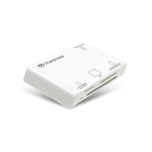 TRANSCEND bílá - SD SDHC microSD microSDHC