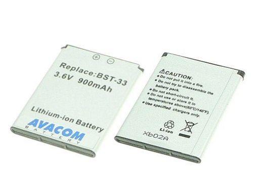 Avacom SONY Ericsson BST-33 Li-ion 900mAh, Satio U1i, K800i, G700, K810i, C702, K790, C901 cena od 0,00 €