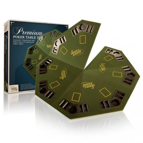 POKERRANGE Premium Poker skládací stůl se zásobníky na žetony