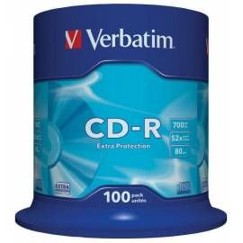Verbatim CD-R DataLife Protection 52x 100ks cakebox