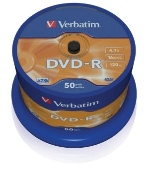 Verbatim DVD+R 16x 50ks cakebox