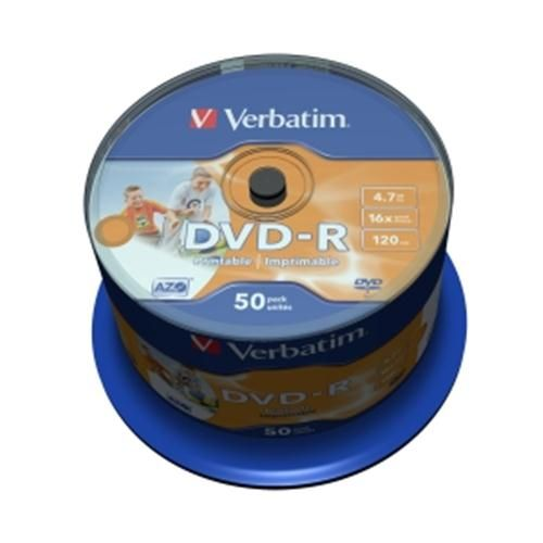 Verbatim DVD-R 16x Printable 50ks cakebox