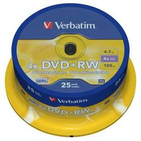 Verbatim DVD+RW 4x 25ks cakebox