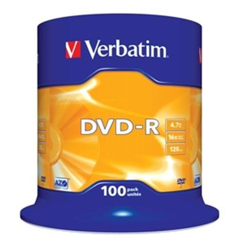 VERBATIM Média DVD-R Verbatim 4,7 GB 16x 100-cake