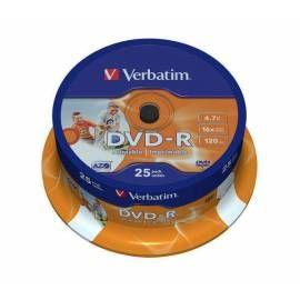 VERBATIM DVD-R 4.7GB, 16x, printable, 25-cake