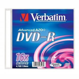 Verbatim DVD-R 4,7GB 16x Silver slim, 1ks