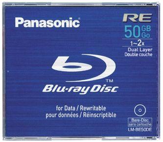 Disk Blu-Ray Panasonic LM-BE50DE, 50GB, 2x, přepisovatelný, dual layer